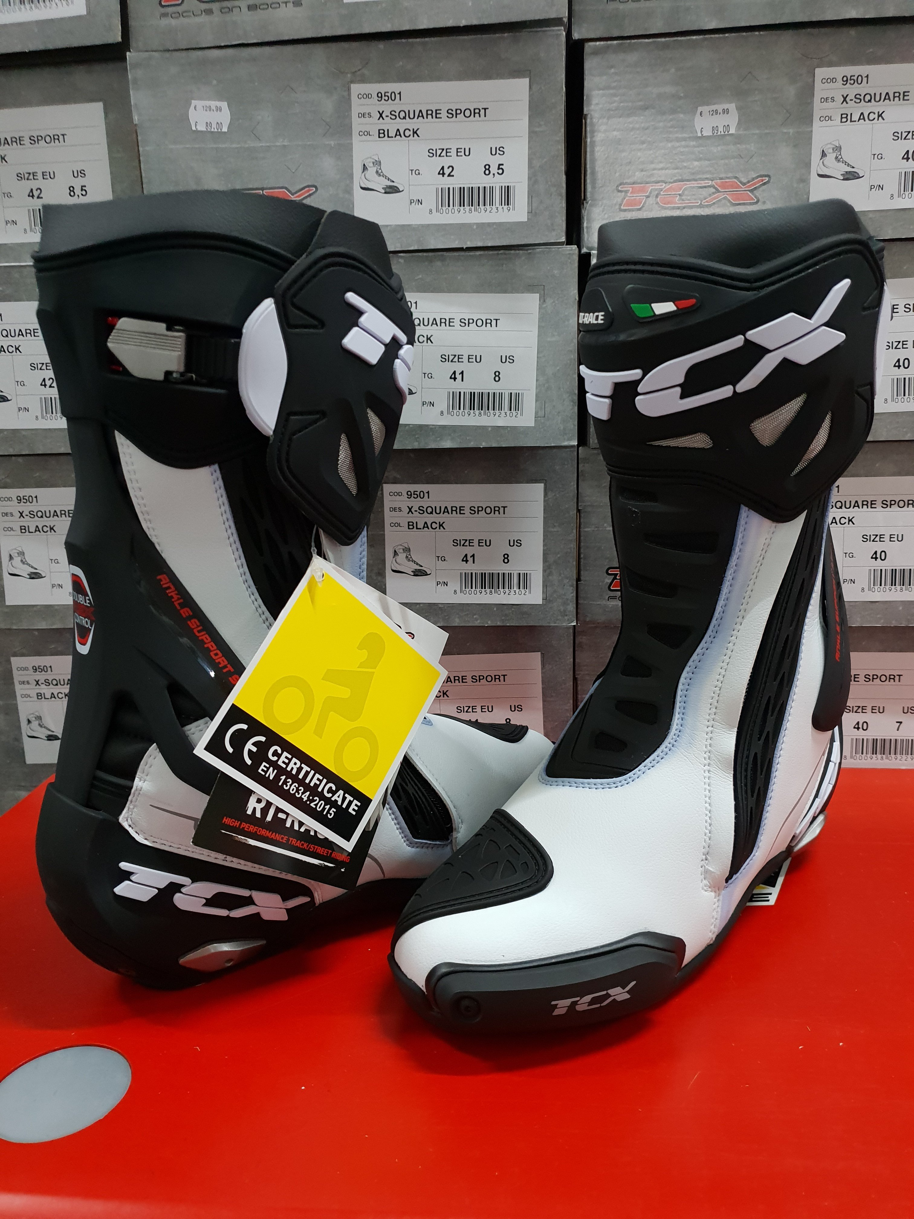 TCX RT-Race White/Black